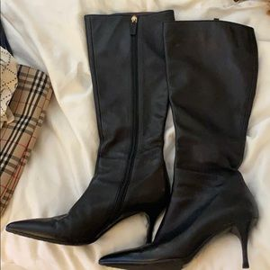 Gucci knee-high zip black boots